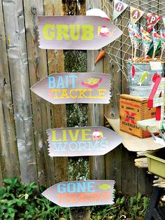 "A Reel Fun ""Gone Fishing"" Birthday Party"
