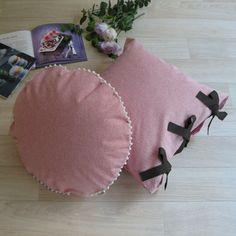 【カバーのみ】canvas plain クッションカバー pompon R   le mum online shop