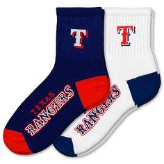 Texas Rangers Men's 2 Pack Socks by For Bare Feet