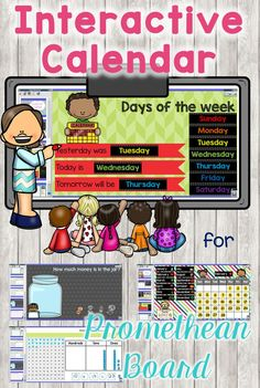 This Interactive calendar flipchart in ActivInspire for Promethean Boards helps teachers review place value, money, counting, dates, number and data activities. Useful for morning routines including morning message and calendar math routine. Ideal for kindergarten and first grade classrooms. Review Common Core math concepts.