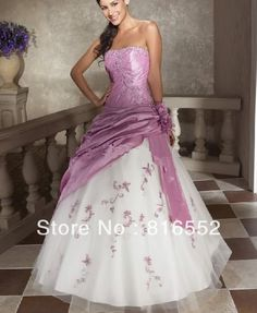 Find More Wedding Dresses Information about New Arrival Hot Sell Stock White/Lilac Bridal / Wedding Dress Size 6 8 10 12 14 16,High Quality dress showcase,China stock prom dress Suppliers, Cheap dress kate from Julia wedding dress co., LTD on Aliexpress.com