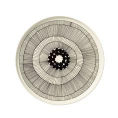 Marimekko - Siirtolapuutarha Teller, weiß / schwarz - Einzelabbildung