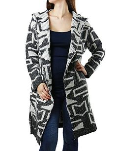 Extra Long Geometric Pattern Knitted Design Fashon Cardigan for Women (SMALL, CHARCOAL-SW5202). ** CLICK FANDSWAY TO VIEW ALL OF OUR UNIQUE COLLECTION **. Each item is inspected thoroughly for any damages before shipping. Model Height: 5'4''& 118 lbs , Model is wearing small.