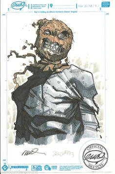 ✔ Humberto Ramos Edgar Delgado DC Comics Color Scarecrow Original Sketch Batman | eBay