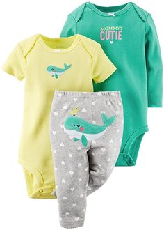 Carter's Baby Girls' 3 Piece Set - Whale - 9 Months