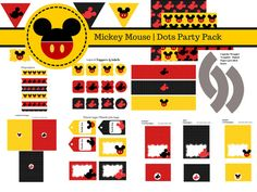 FREE Mickey Mouse Party Printables, Photo booth Props, Party Printables, Weekly FREEBIES for Instant Downloads, Games for Baby Shower, Bridal Shower, FREE Mickey Mouse, Free Banners