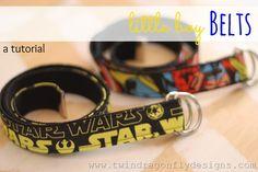 Boy Belt Tutorial ~ my guys love superheros and star wars