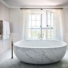 Marble Bath Tub #Bathroom 2014 Home Trend - Round Floating Bath Tubs