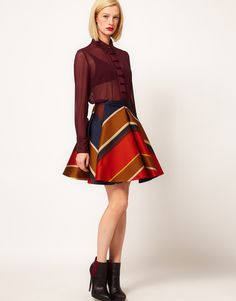 Ostwald Helgason Wave Skirt in Bonded Silk  $791.55