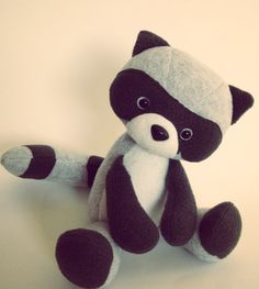 Introducing Rae the Racoon!  *10 Soft Racoon Sewing Pattern  * Can be made with Faux Fur, Fleece, Minky and even Felt!  *Easy to follow picture