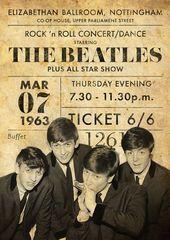 Foto Beatles, Beatles Poster, Les Beatles, Rock Band Posters, Vintage Concert Posters, Tour Posters, Rock Concert, Concert Tickets, Rock Music