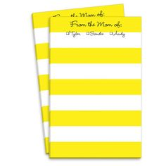 Yellow Stripe Mommy Notepad
