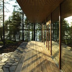 Villa K&Y by Meark Architects, www. Houston Houses, Cottage Windows, Wood Architecture, Cabins In The Woods, Architect Design, Interior And Exterior, Nordic Interior, Building A House, Outdoor Living