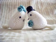 Bride and Groom Lovebirds amigurumi crochet pattern