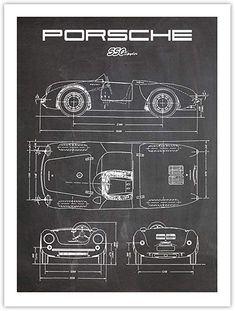 Amazon.com: Porsche 550 Spyder Poster Chalkboard (18 x 24): Posters & Prints Lotus Sports Car, Porsche 550, Poster Prints, Posters, Chalkboard, Amazon, Amazons, Riding Habit, Poster
