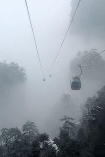 Zhangjiajie World Geological Park, Hunan, China Cableway 天子山索道