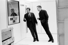 Stanley Kubrick on the set of 2001: A Space Odyssey (1968)
