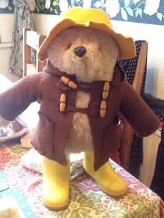 A personal favourite from my Etsy shop https://www.etsy.com/listing/222814230/gabrielle-designs-1970s-paddington-bear