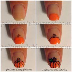 Calabaza Nails Inspirado | Suela Tutoriales