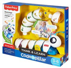 Fisher-Price Think & Learn Code-a-pillar Toy Christmas Toys, Christmas 2016, Toys For Boys, Games For Kids, Robot Tv, Popular Toys, Science Kits, Learn To Code