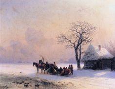 Winter Scene in Little Russia, Ivan Aivazovsky, 1868