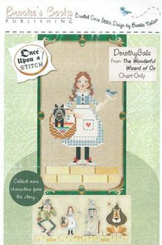"""From Brooke's Books is a delightful series titled """"Wonderful Wizard"""" and this pattern is Dorothy Gale."""