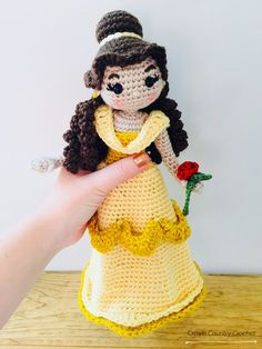 CROCHET PATTERN Belle Doll // Beauty and the Beast Crochet | Etsy
