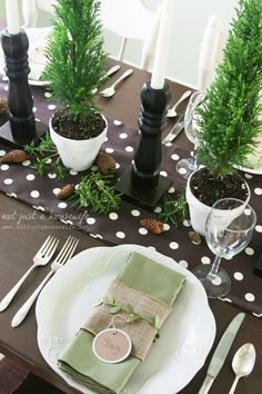 Christmas table with natural elements from @Stacy Risenmay