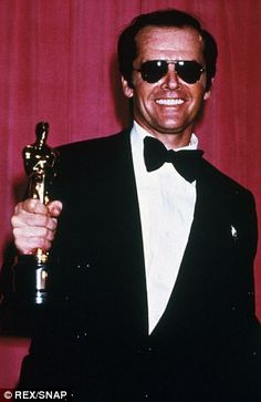 Award winner: Jack won the Best Actor Oscar for One Flew Over The Cukoo's Nest in 1975