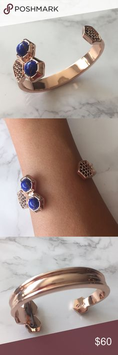 Giles & Brother rose gold bangle Beautiful NYC brand G&B stone & crystal rose gold bangle in like new condition! Versatile to dress up or down with. No scratches Yves Saint Laurent Jewelry Bracelets