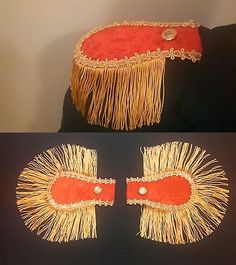 Second photo shows epaulettes laid flat. 2 pair) Red Epaulettes with gold fringe. Tulle Costumes, Nutcracker Costumes, Masquerade Costumes, Pirate Cosplay, Cosplay Diy, Cosplay Costumes, Pirate Costumes, Steampunk Pirate, Steampunk Diy