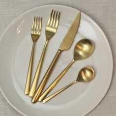 Linea Ice Oro Flatware - By Piece