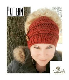 This listing is for the Crochet PATTERN only. Written instructions are provided as two PDF digital downloads to create the Ribbed Messy Bun Beanie in Child AND Adult sizes. This pattern includes options for making the beanie with or without an elastic band. What youll need to complete this project: - 1 skein of Red Heart Super Saver or any other similar worsted weight yarn - H (5.00 mm) Crochet Hook - I (5.50 mm) Crochet Hook - 1 elastic ponytail holder if preferred - Yarn needle for weaving…