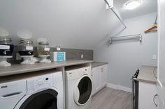 An attic laundry roo
