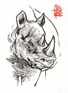 Retrouvez cet article dans ma boutique Etsy https://www.etsy.com/fr/listing/256591421/rhinoceros