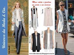 Maxi colete está em alta no verão e no inverno. Confira fashion looks para se inspirar no blog Universo da Moda & Cia. www.flaviakesia.blogspot.com.br