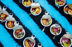 Chef Joachim Splichal from Los Angeles served up cleverly plated contemporary niçoise salad in a can, which sat atop strips of dirt as a nod to his winery. Photo: Eric Vitale