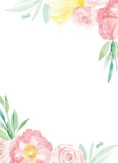 Bearbeitung - Hochzeitskarten - Einladungskarten selbst gestalten Animal Print Wallpaper, Flower Phone Wallpaper, Iphone Wallpaper, Flower Backgrounds, Wallpaper Backgrounds, Flower Pattern Drawing, Free Printable Wedding Invitations, Baby Food Jar Crafts, Birthday Frames