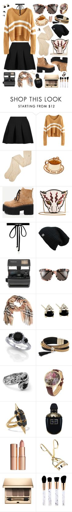 """Fresh outa film school"" by alexis-marie-burroughs ❤ liked on Polyvore featuring T By Alexander Wang, UGG, STELLA McCARTNEY, Joomi Lim, Impossible, Gentle Monster, Burberry, Simons, Carolyn Pollack/Relios and Noir Jewelry"