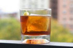 Hidden Charms:  13/4 oz blended scotch whisky  1/2 oz Carpano Antica Sweet Vermouth  1/2 oz Aperol  1/4 oz Nux Walnut Liqueur  1/4 oz of Laphroaig 10yr  2 dashes of Amargo Chuncho Bitters  Garnish with a lemontwist