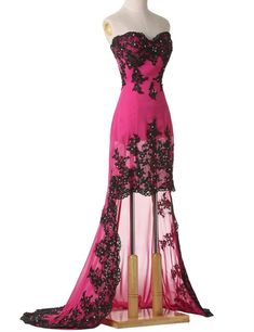 Vimans Womens Sweetheart Highlow Lace Bridesmaid Dresses Fuschia 12 >>> Learn more concerning the wonderful item at the image link. (This is an affiliate link). #bridesmaiddresses