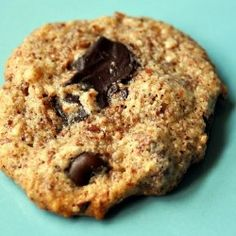 chocolate chip almond cookies, savory and sweet for a nostalgic primal treat!
