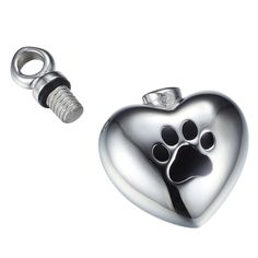Amist Warm Heart Dog Paw Print Cremation Jewelry Urn Necklace ~ $19.99 at dogpawscatclaws.com
