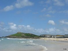 St Ives apartment rental - Porthemor beach to the island