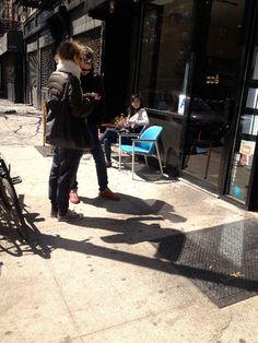 Shopfront Chairs in front of Zoe - 245 Eldridge St.  New York, NY 10002 - Photo: Mike Lydon