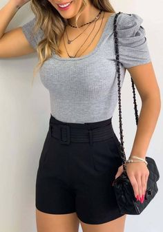Teen Fashion Outfits, Girly Outfits, Cute Casual Outfits, Short Outfits, Chic Outfits, Girl Fashion, Summer Outfits, Ootd Fashion, Classy Casual