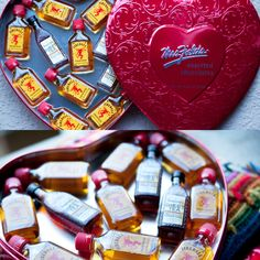 Fireball Valentines gift! Removed chocolates and replaced with favorite liquor! #fireball