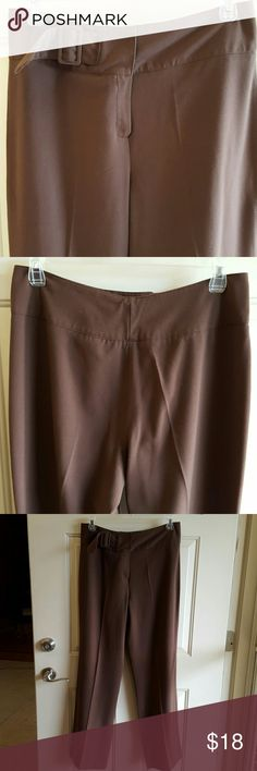 Chocolate Brown Pants Cute, comfy and semi-casual pants for work or date night. Wide banded waist with a side partial belt. Full/ wide legs. Has some minor piling in crotch area but unnoticeable. Figure enhancing. True to size.  Very good condition. Larry Levine Pants Trousers