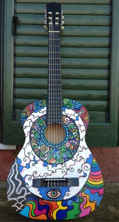 40 Beautiful and Creative Guitar Artworks - Bored Art