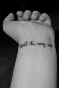 until the very end Harry Potter small wrist tattoo